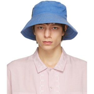 Double Rainbouu Blue Flop Top Bucket Hat