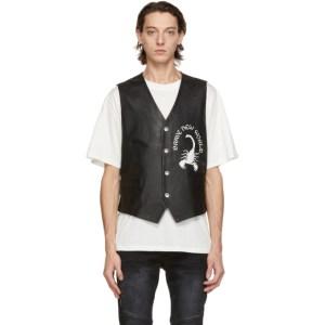 Stolen Girlfriends Club Black Leather Scorpion Rising Vest