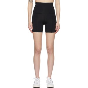 Live the Process Black Geometric Shorts