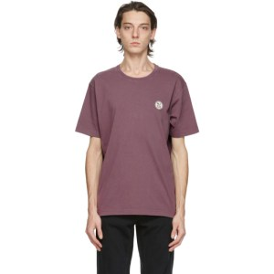 Nudie Jeans Purple NJCO Circle T-Shirt