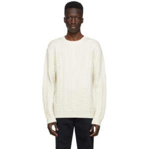 Norse Projects Off-White Wool Arild Rope Sweater