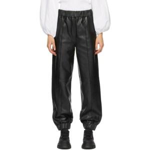 GANNI Black Lambskin Pants
