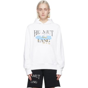 Helmut Lang White Saintwoods Edition HL Ocean Hoodie