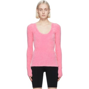 Helmut Lang Pink Rib Pullover Sweater