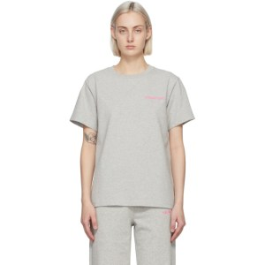 Helmut Lang Grey Logo T-Shirt