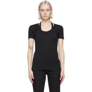 Helmut Lang Black Halter T-Shirt