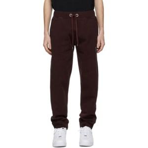 Helmut Lang Burgundy Patch Lounge Pants