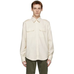 Helmut Lang Off-White Strap Shirt