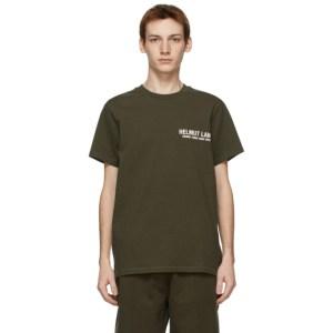 Helmut Lang Khaki Strap T-Shirt