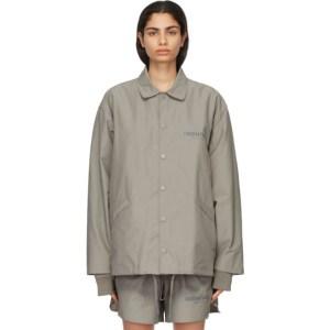 Essentials Taupe Coach Jacket