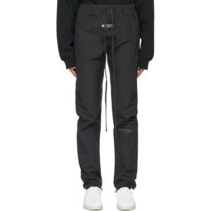 Essentials Black Logo Track Pants