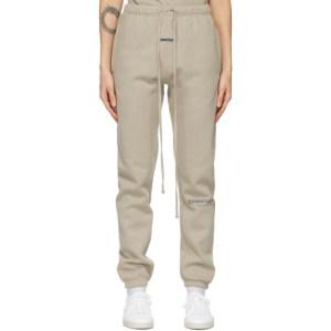 Essentials Beige Fleece Lounge Pants