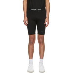 Essentials Black Athletic Bike Shorts