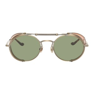 Matsuda Gold and Green 2809H Terminator Sunglasses