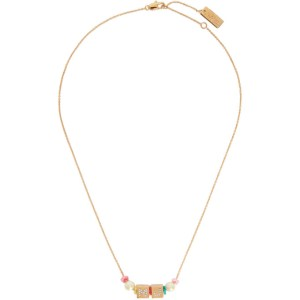 Marc Jacobs Gold Toy Blocks Necklace