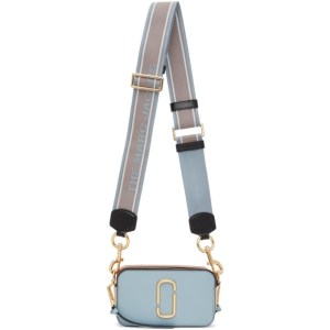 Marc Jacobs Blue and Brown The Snapshot Bag