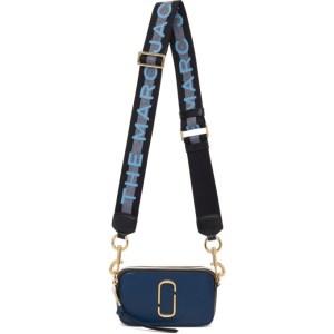 Marc Jacobs Navy The Logo Strap Snapshot Bag