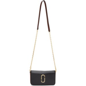 Marc Jacobs Black and Red The Snapshot Chain Wallet Bag