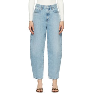 AGOLDE Blue Balloon Ultra High-Rise Curved Jeans