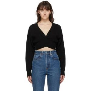alexanderwang.t Black Wool Twist Sweater