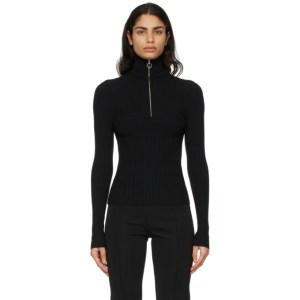 giu giu Black Nonna Half-Zip Polo Sweater
