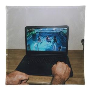 Serapis SSENSE Exclusive Multicolor LaptopandPool Print Pillow Case