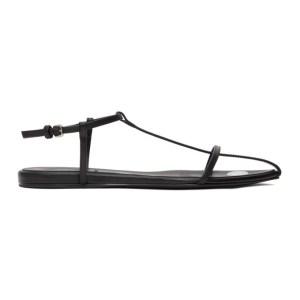 Jil Sander Black Polka Dot Pointy Toe Flat Sandals