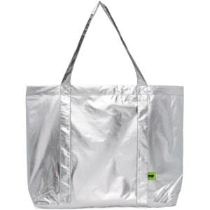 Pushbutton Silver Metallic Bag
