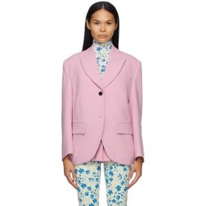 Pushbutton Pink Single Box Blazer