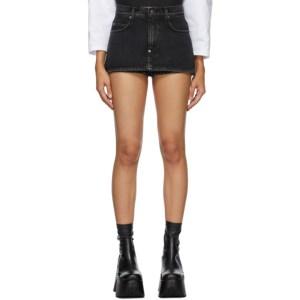 Pushbutton SSENSE Exclusive Black Miniskirt Shorts