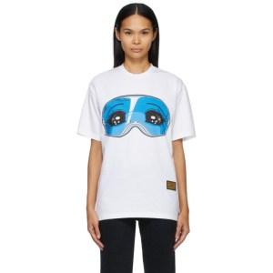 Pushbutton White Oversized Graphic T-Shirt