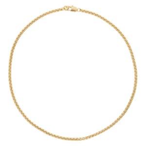 Laura Lombardi Gold Box Chain Necklace
