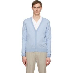 Giorgio Armani Blue Wool Chalcedony Cardigan