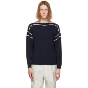 Giorgio Armani Navy Wool and Silk Sweater
