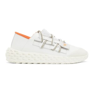 Giuseppe Zanotti White Leather Urchin Sneakers