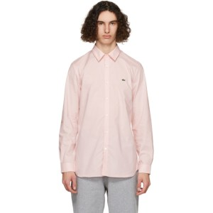 Lacoste Pink Stretch Slim Fit Shirt