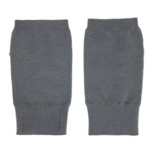 Frenckenberger Grey Cashmere Fingerless Mittens