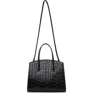 Little Liffner Black Croc Mini Minimal Bag
