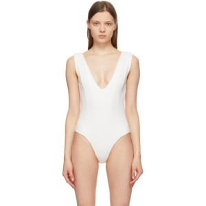 Gauge81 White Vichy Bodysuit