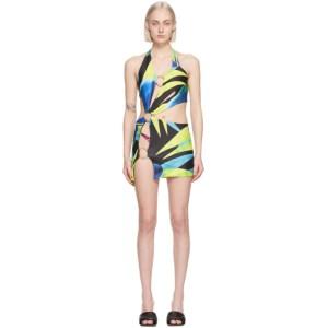 Louisa Ballou SSENSE Exclusive Blue and Yellow Sex Wax Dress