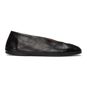 Marsell Black Spatolona Ballerina Flats