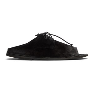 Marsell Black Suede Sandalaccio Sandals