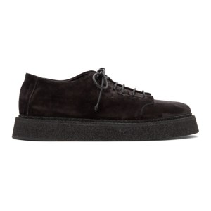 Marsell Black Suede Zampogna Derbys