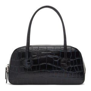 Marge Sherwood Black Croc Bassette Tote Bag