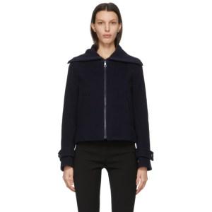 See by Chloe Navy Virgin Wool Zip-Up Jacket