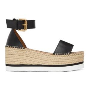 See by Chloe Black Glyn Flat Platform Sandals