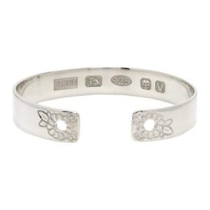 Bleue Burnham Silver Marigold Bangle Bracelet