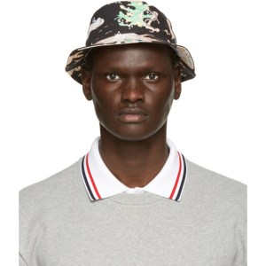 Thom Browne Black Hawaiian Scene Classic Bucket Hat