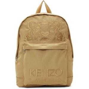 Kenzo Beige Kampus Tiger Backpack
