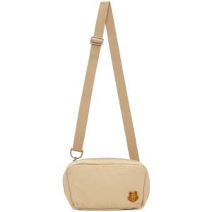 Kenzo Beige K-Tiger Shoulder Bag